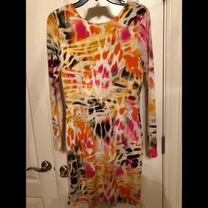 Jennifer Lopez multi color stretch dress size M